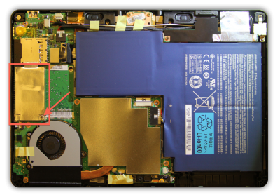 Acer Iconia W500 - Inside view ...