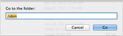 Finder - Enter the path of the folder you'd like to go to
