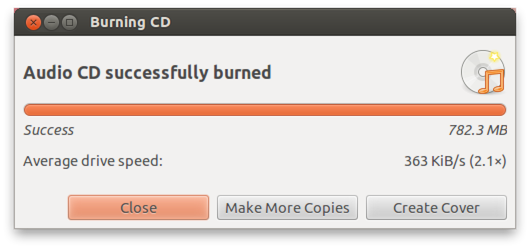 Brasero - Your Audio CD Done!