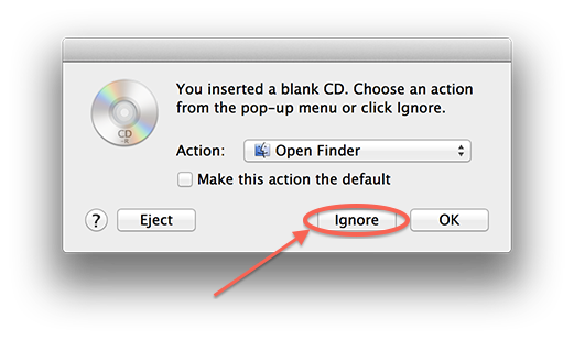 Finder sees inserted CDR