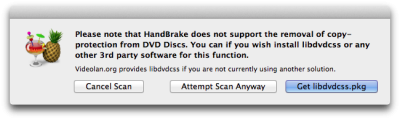 HandBrake didn't find libdvdcss