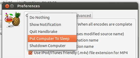 Handbrake - Go to sleep when done!