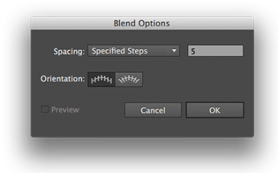 Illustrator Blend Options