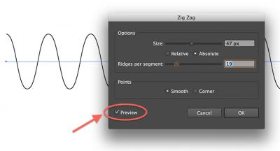 Illustrator - Zig Zag settings