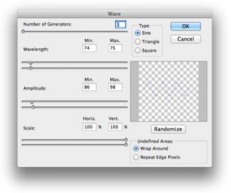 Photoshop - Wave filter settings