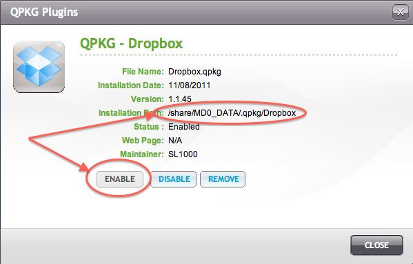 Tweaking4All com - How do you install DropBox on your QNAP?