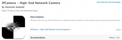 IP Camera at the App Store