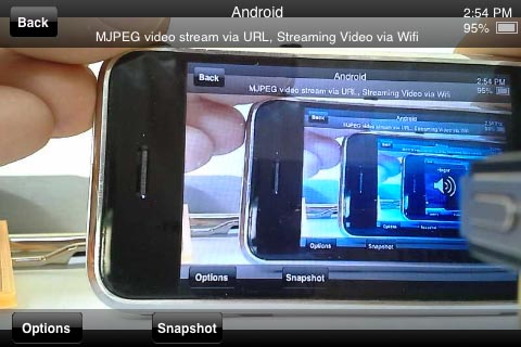 Mobile Apps can see the video feed as well!