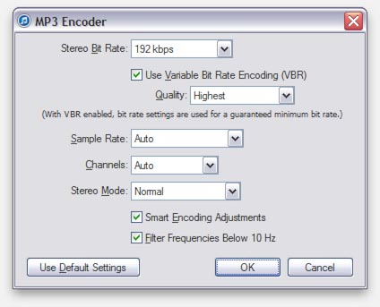 iTunes - Detailed MP3 settings