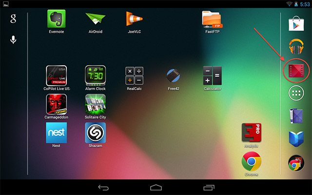 Nexus 7 - Play Movies