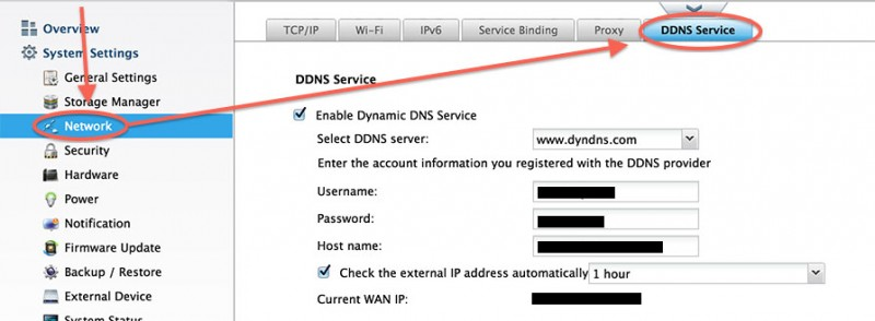 Dynamic DNS Setup on a QNAP NAS