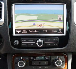 Modern car navigation (VW Touareg 2011)