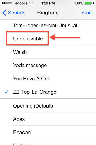 Your new Ringtone on your iPhone