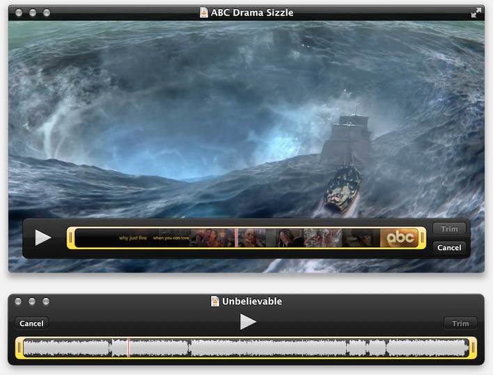 QuickTime - Trim Audio or Video