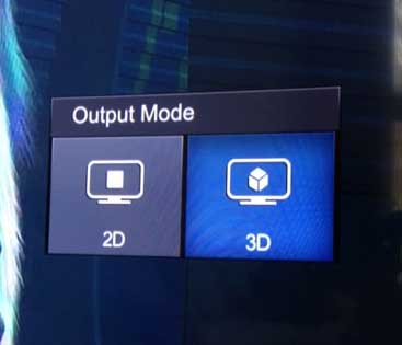 "Press the ""3D"" button on your remote"