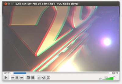 VLC in Anaglyph mode