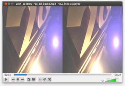 Open the SBS 3D Movie in VLC