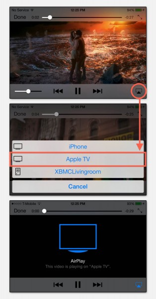 AirPlay on your iPhone - Video PlayBack