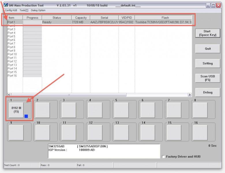 Format Apple USB Restore - USB Stick info