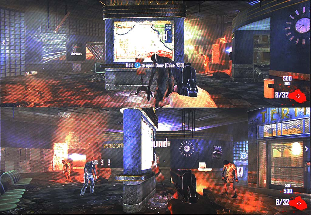 4 player split screen zombie games ps3