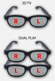 Difference between 3D TV glasses and Dual Play glasses