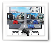 Play any Split screen Game, Full-Screen on any 3D TV (like Dual Play)