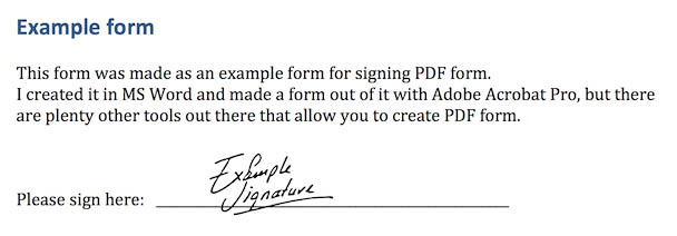Mac OS X - Preview - Your document with Handwritten Signature