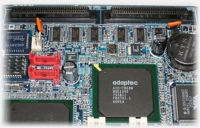 RAID on a motherboard (Adaptec SATA)
