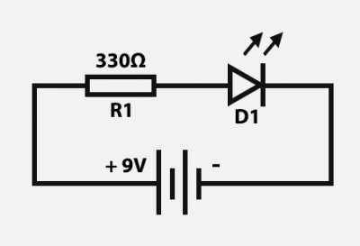 Simple Circuit: LED with a battery