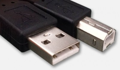 USB Cable with Type A and Type B connectors