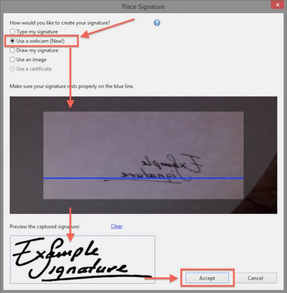 Windows - Acrobat Reader - Digitize Handwritten Signature