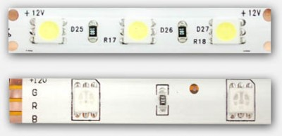 Analog LED strips - Single color (top), Multicolor (bottom)