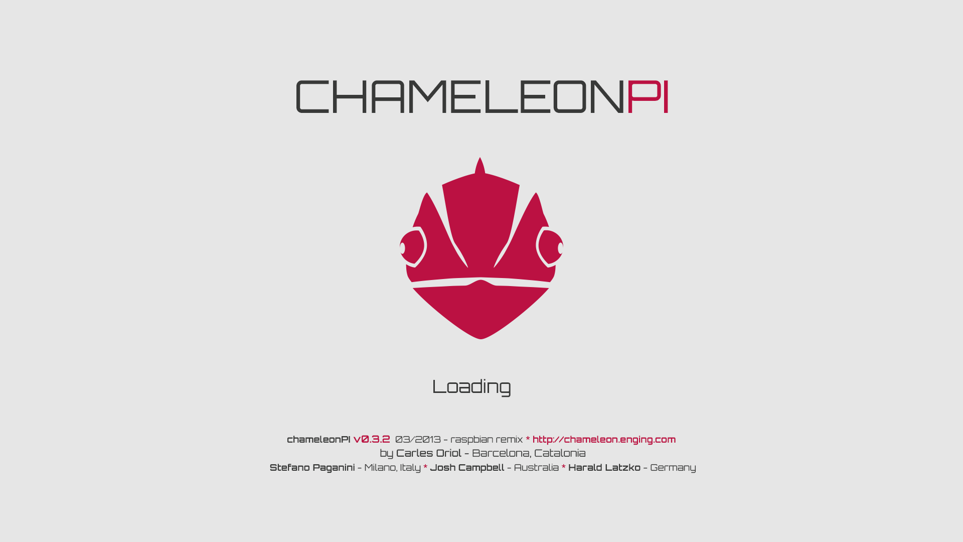 Chameleon Pi - Loading Screen