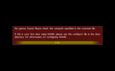 MAME under MacOS X - First start ...
