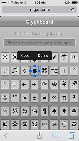 Keyboard Symbols Shortcuts Tweaking4All.com...