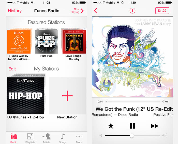 iPad/iPhone - iTunes Radio, fun to play around with for a little bit