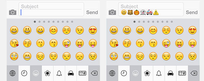 iPad/iPhone - Type Emoji Emoticons/Smileys