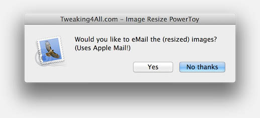 Would you like to attach the resized images to a new email?