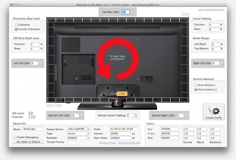 Boblight Config Maker for MacOS X