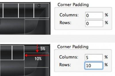 Optionally set Corner padding