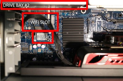 Mac Pro - Location of WiFi slot and BT (Bluetooth) Card