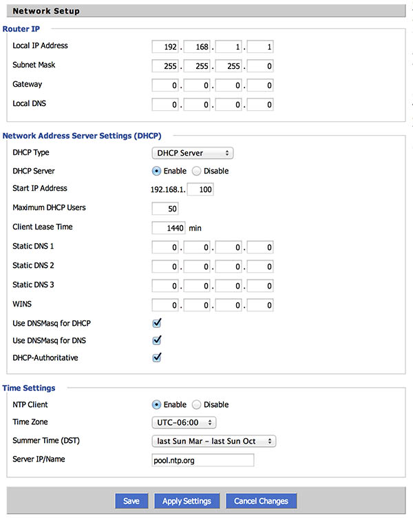 NetGear R7000 DD-WRT - LAN Settings
