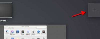 MacOS X Mission Control - Add a Virtual Desktop