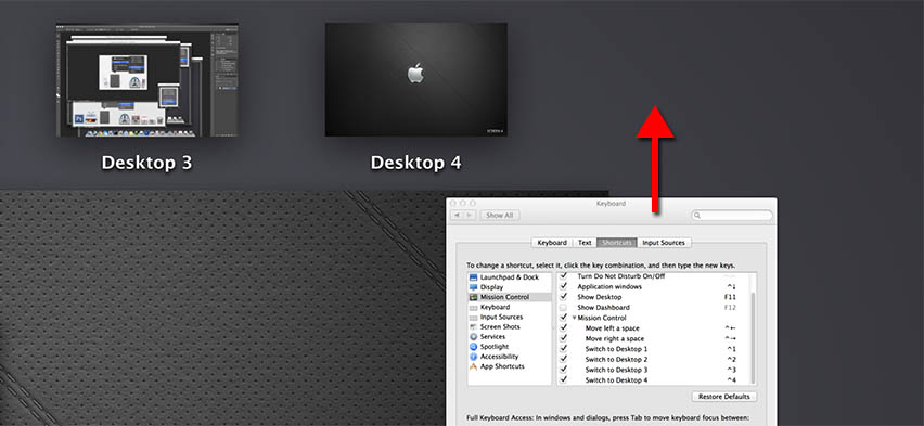 Mission Control - Add a new Desktop for an Application