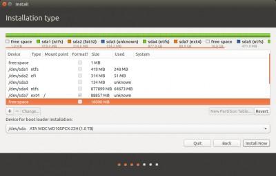 Ubuntu Setup - Space left for Swap