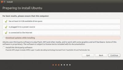 Ubuntu Setup - Download Updates?