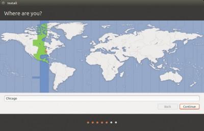 Ubuntu Setup - Location