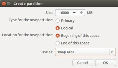 Ubuntu Setup - Swap Partition