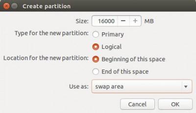 Ubuntu Setup - Swap Partition