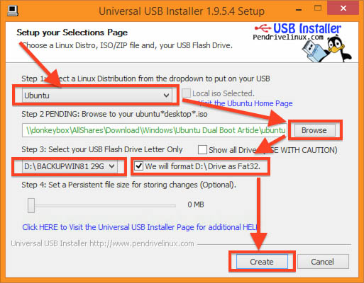 how to make usb 8.1 boot drive